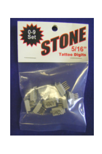 Stone Digits 0-9 Set (5/16)
