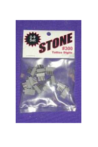 Stone Digits 0-9 Set (.300)