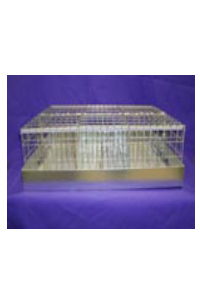 "Cavy Carrier Cage 21"" x 24"" x 8"" 6 hole, individual lids"